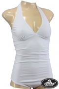 40s / 50s Retro Marilyn-Look Swimsuit in White