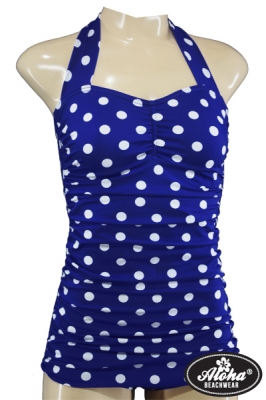 1950s Vintage Swimsuit with Polka Dots