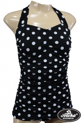 50s Vintage Polka Dots Swimsuit